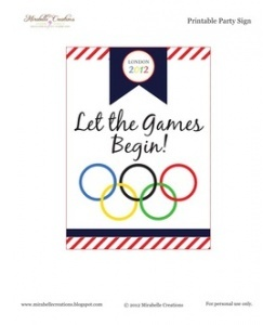 Printable Olympics Party Sign