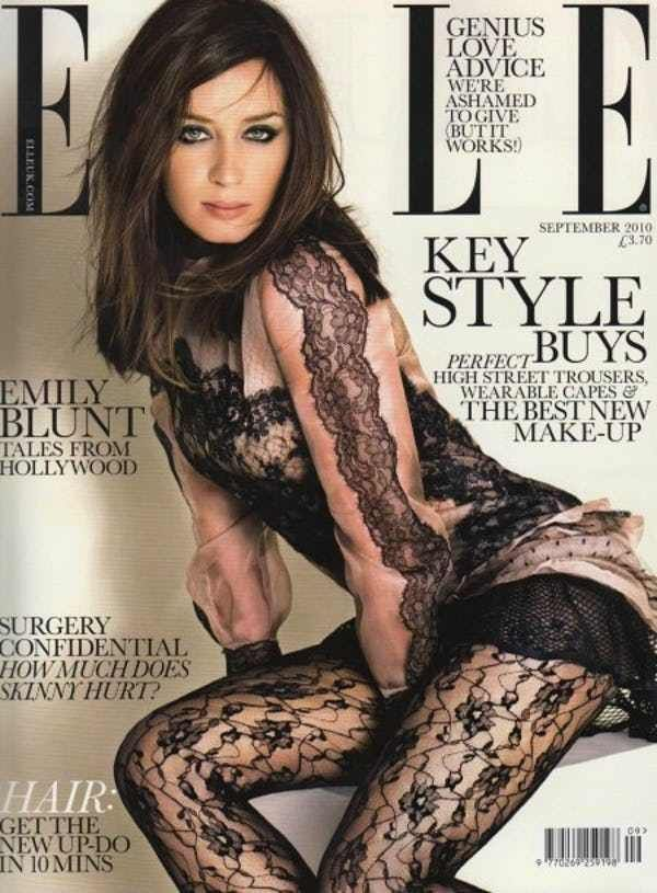 Emily Blunt in a Lace Lingerie is listed (or ranked) 3 on the list The 10 Hottest Emily Blunt Bikini Photos