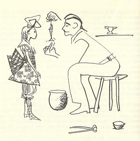 Cem anos de solidão (GGM) - Remedios moscote, peixinho de ouro, coronel aureliano buendia - por Carybé