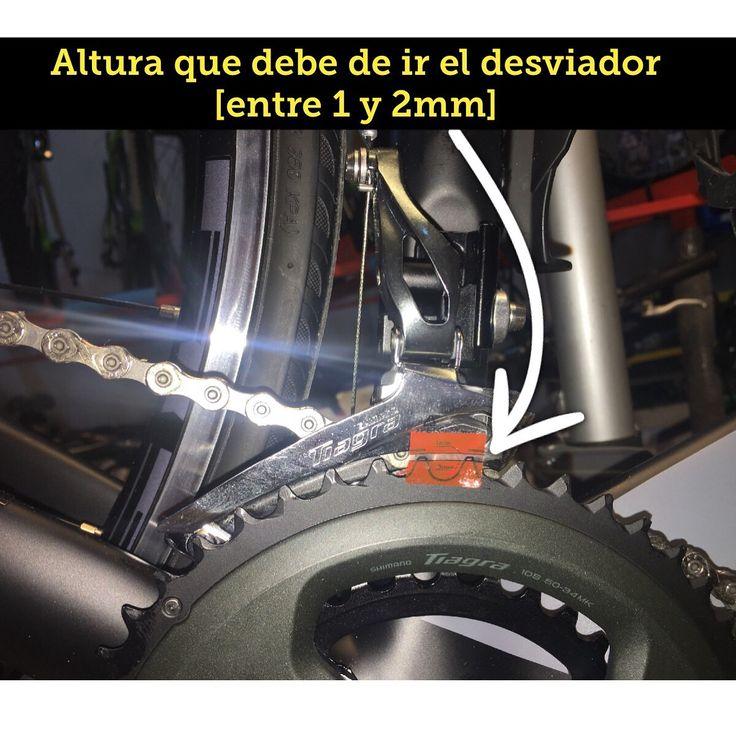 Altura correcta que debe de ir un desviador. (Los desviadores #shimano te traen una pegatina roja donde te informa la altura correcta)  #byjz #mtb #ciclismo #Cycling #bikes #Bici #bicicleta #Shimano #Sram #duraace #srameagle #orbea #Specialized #trekbikes #focus #Cannondale #giant #pinarello #scottbikes #cervelo #focusbikes #canyon #mavic #maxxis #Fox #mechanic