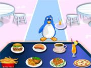 Free Online Girl Games, Run your own icy food service as you help customers in Penguin Diner Restaurant!  You'll have to seat each penguin at a table, serve them what they want and then collect the money!  Make sure you don't mess up any orders or take too long to serve your customers!, #animal #restaurant #time management #food #diner