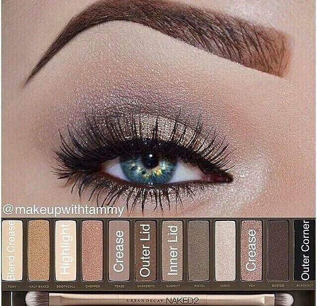 Naked 2 makeup look