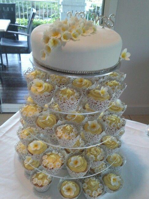 Frangipani wedding cake..
