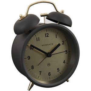 Newgate Clocks Charlie Bell Alarm Clock - Matt Gravity Gray