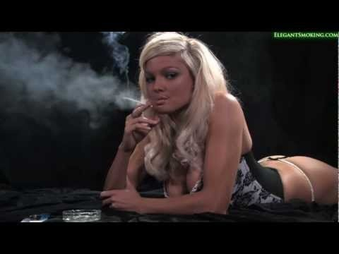 Blond Model Emma Spellar and Charlee Lynn smoke all white 100's slims HD HQ