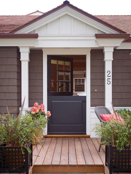 88 best images about dutch door ideas on pinterest the for Front door update ideas