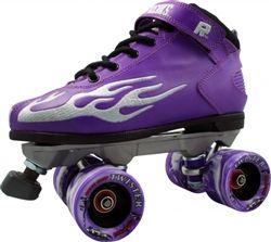 Purple Rock Flame Speed Skates With Twister Wheels  www.skateoutloud.com