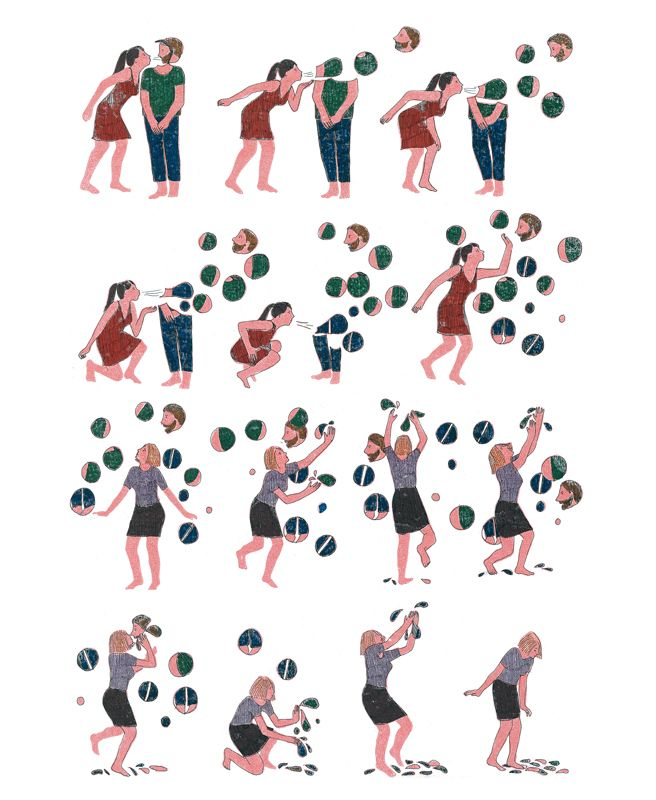 In Pieces: Illustrator francese Marion Fayolle Wordless Narratives sui rapporti umani | Pickings Cervello