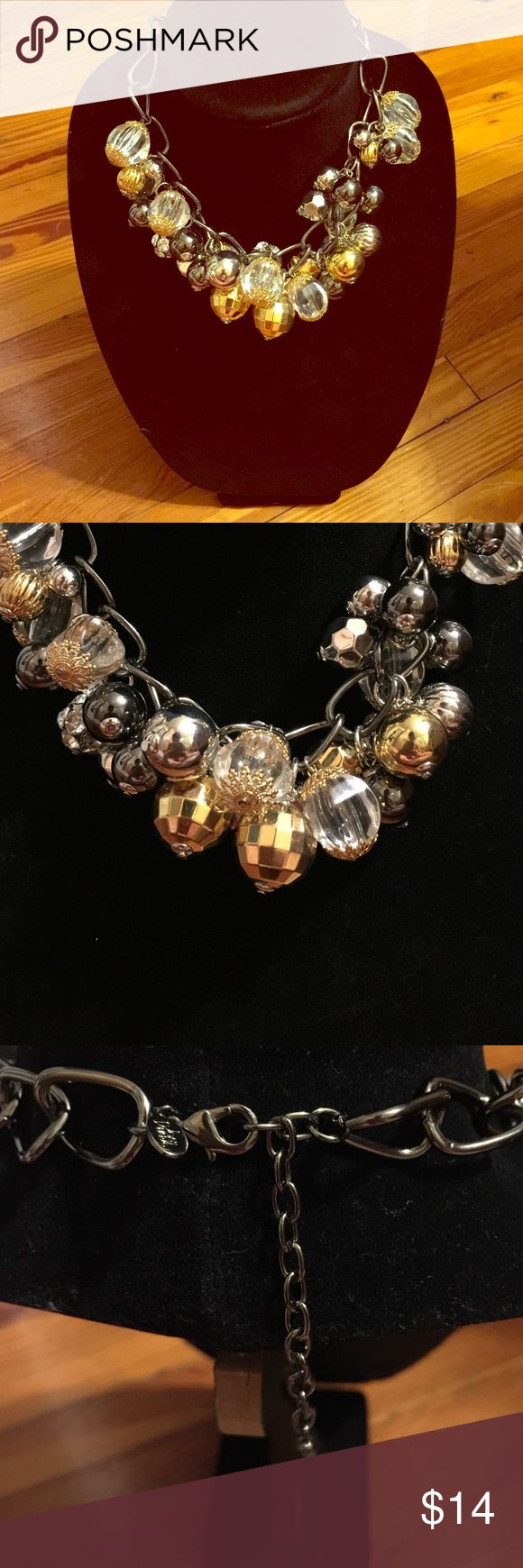 Gold & Silver Statement Necklace Great condition.. Hardly any wear! Joan Rivers Jewelry Necklaces