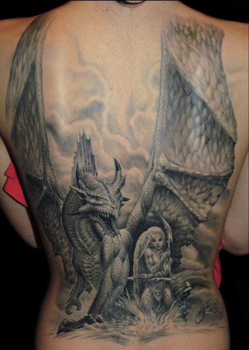 56 best images about tattoo dragon and pheonix on for Medieval dragon tattoo