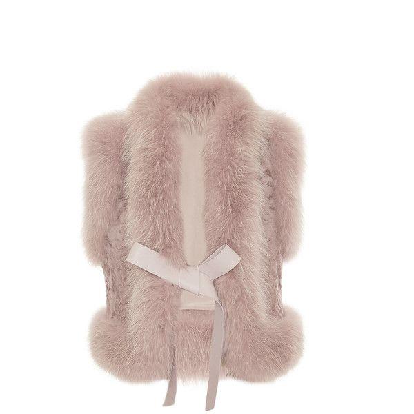 Elie Saab Fox And Astrakhan Fur Vest (€6.255) ❤ liked on Polyvore featuring outerwear, vests, elie saab, brown fur vest, brown waistcoat, fur vest and fur waistcoat