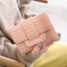 Free shipping 2016 new arrival fashion women mini wallets brand short wallet PU leather Crocodile change purse(China (Mainland))