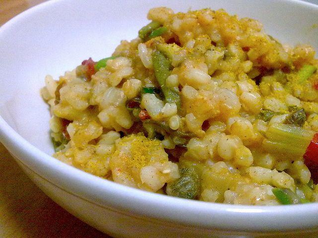 Curried vegan risotto - Risoto vegano al curry