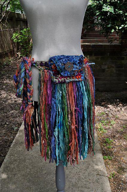 Ravelry: Sari Silk Ribbon Fringe Skirt pattern by Hannah Martin