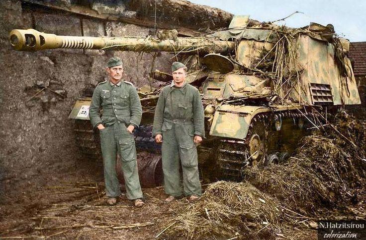 Sd.Kfz. 164 Panzerjager Nashorn of Schwere Panzerjager Abteilung 655 in Eastern Front,1943.