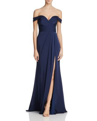 Faviana Couture Off-the-Shoulder Gown | Bloomingdale's