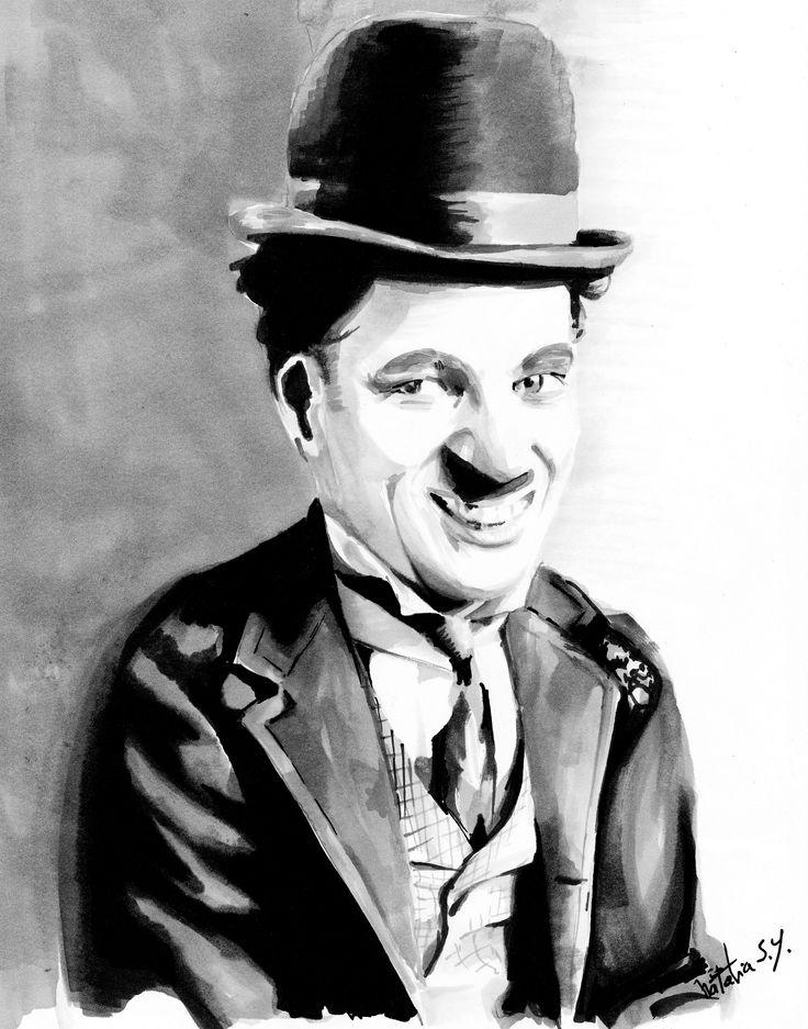 Charles Chaplin con marcadores #prismacolor #illustration #markers #ilustracion #art