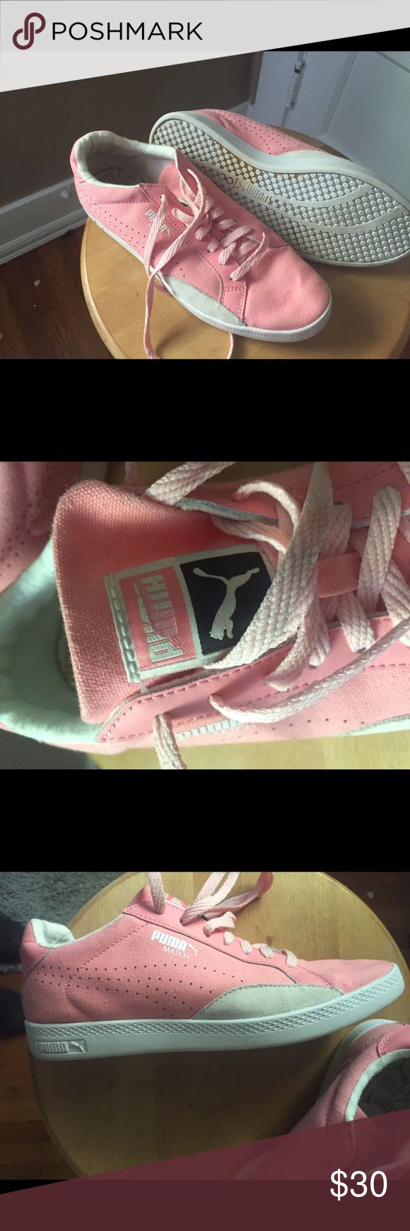 Bubblegum pink pumas Size 7.5 only worn a few times, good quality! Puma Shoes Athletic Shoes