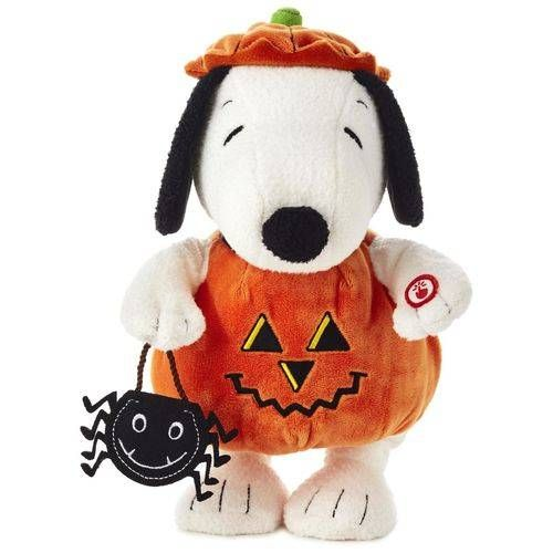 Peanuts® Pumpkin Time Snoopy Stuffed Animal With Sound and Motion, , large
