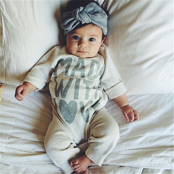 Infant Baby Boy Girls Warm Clothes Long Sleeve Baby Rompers Jumpsuit Letters Baby Autumn Winter Clothes 0-18 Months