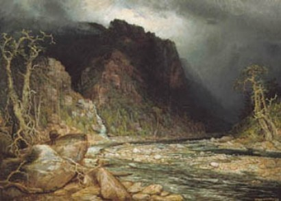 A Coming Storm in the Adirondacks - Homer Ransford Watson. This was painted in 1880.