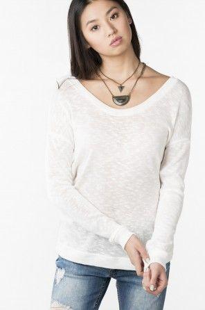 Light knit lace up shirt
