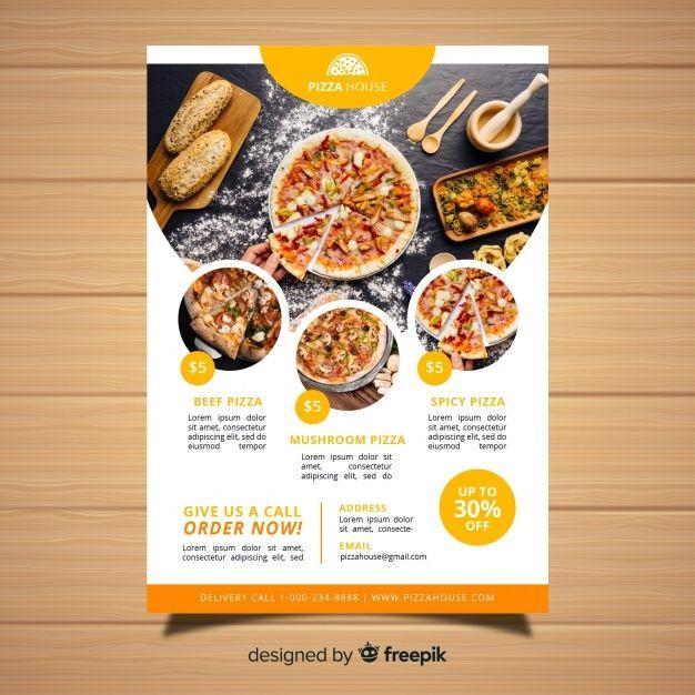 Restaurant Flyer Templates Poster Makanan Desain Menu Makanan