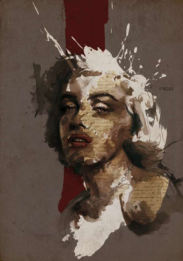 Well Marilyn! I have only just discovered this sensational French artist Florian Nicolle who created this work! I'm loving it! How has she escaped me before this?