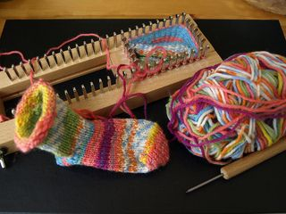Sock Loom Basics | Sock loom knit pattern. Basic Sock. Many sizes available.