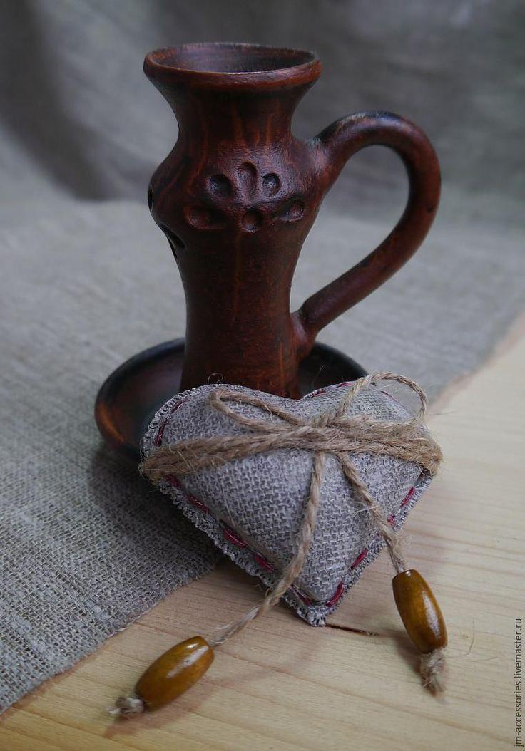 Мастер-класс: сердечко в стиле рустик из полимерной глины - Ярмарка Мастеров - ручная работа, handmade
