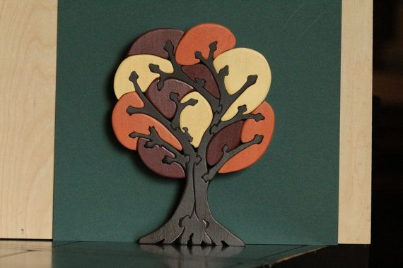Wooden Tree Puzzle by CJMWoodworks on Etsy