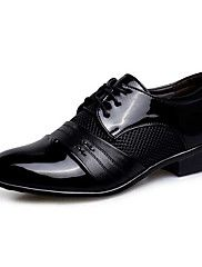 Masculino-Oxfords-Inovador sapatos Bullock Sapatos formais-Rasteiro-Preto Marrom-Couro Ecológico-Casamento Casual Festas & Noite