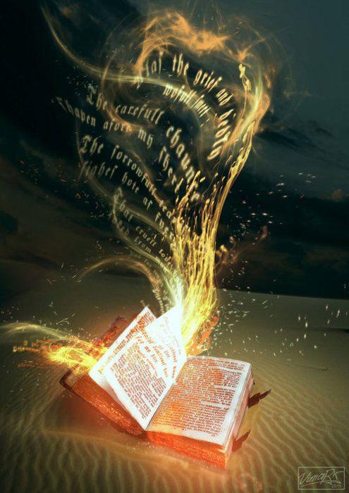 The magic of books: Fantasy, Life, Dreams, Art, Writing, Words Of God, Things, Books Of Shadows, Books Magic