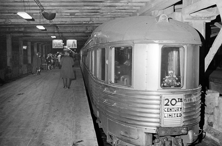 The 20th Century Limited gets ready to leave Grand Central Station in New York for its last run, on December 2, 1967. The 20th Century Limited was an express passenger train that ran between between Grand Central Terminal and LaSalle Street Station in Chicago, operated by the New York Central Railroad from 1902 until 1967.