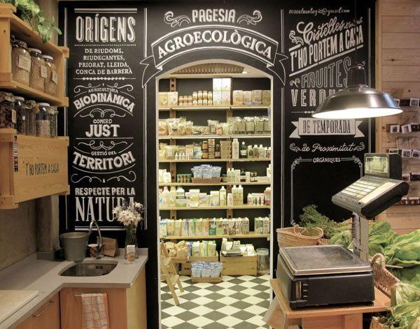 Typographie : Devanture de magasin Rétro