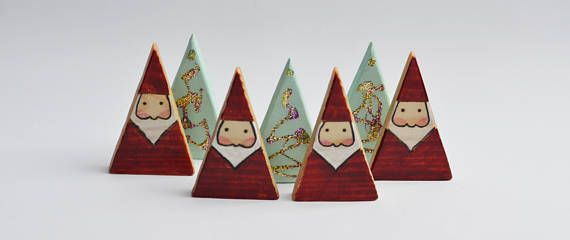 Wooden Gnome Wooden Santa Christmas Home Decor Christmas