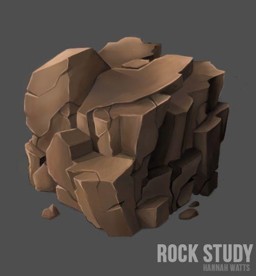 Rock Study // Hannah Watts // #textures