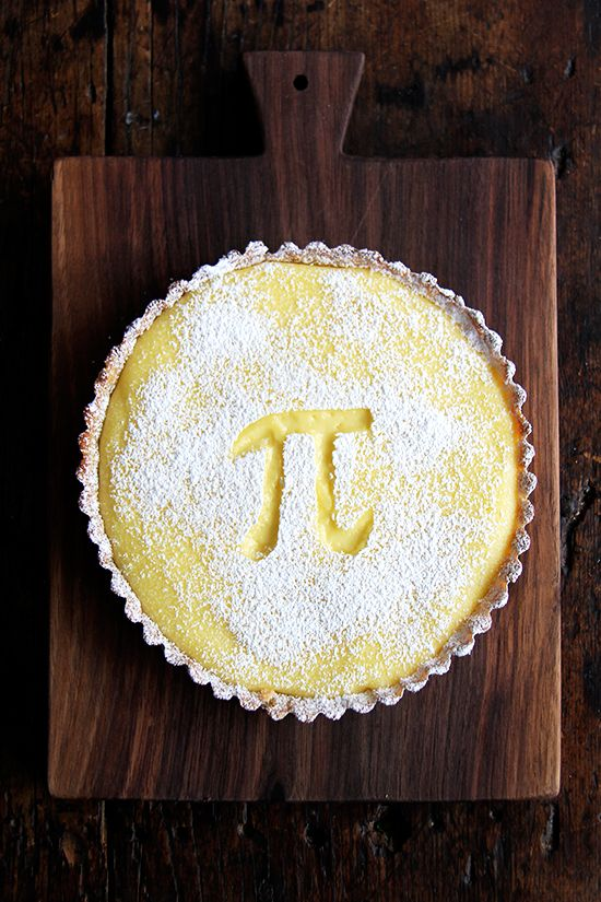 lemon curd tart (for pi day or not) — this is Paule Caillat's brown butter tart shell plus homemade lemon curd. Delicious!