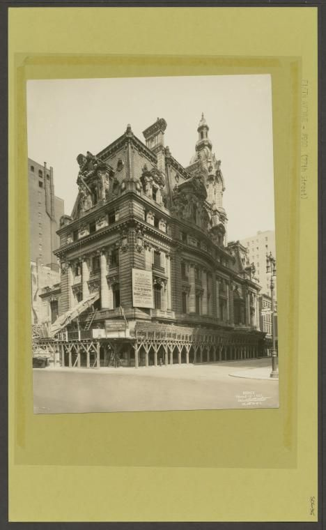 Very sad indeed, that yet another American Gilded Age mansion was demolished in NYC. Previously located at: 5th Avenue and 77th Street. The mansion was the residence of, Senator William A. Clark, father of reclusive heiress, Huguette Clark. Construction of the mansion took 13 years  (c.1895 - c.1908). Demolition took place, as pictured here in, c.1925, the year Senator William Clark passed away. ~ {cwlyons} ~ (Image: NYPL)