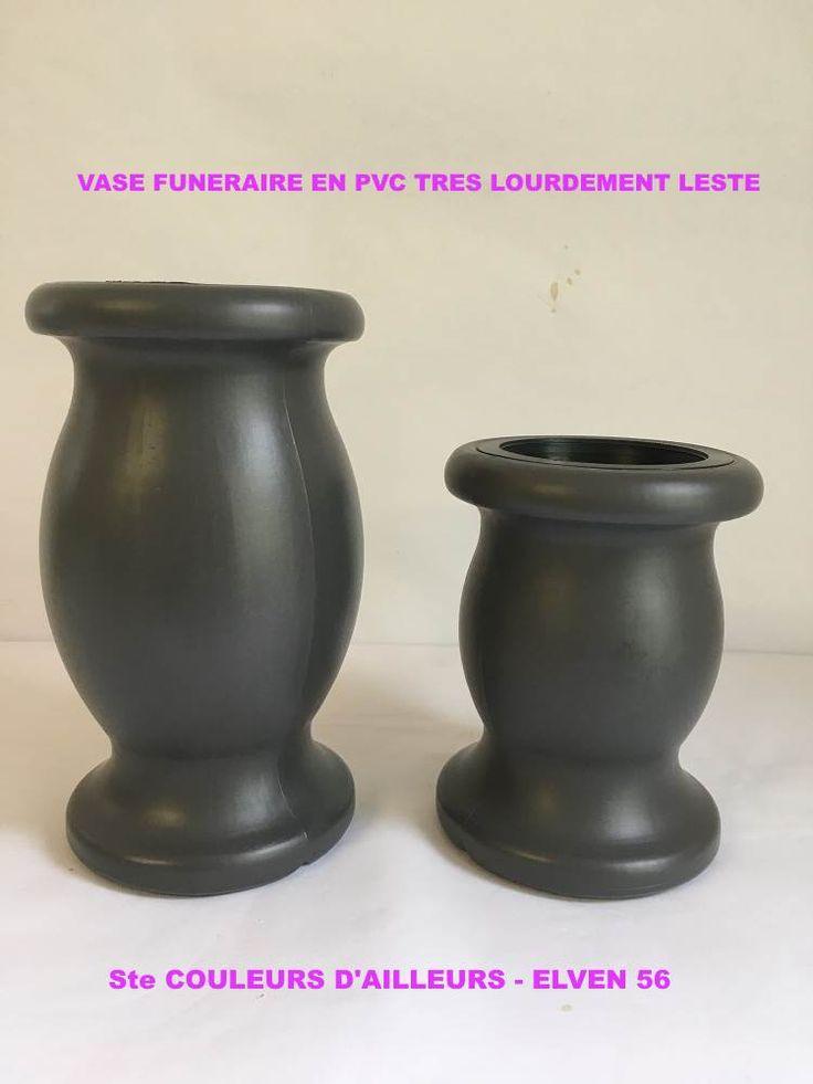 Vase funeraire en PVC tres lourdement leste petit et grand modele