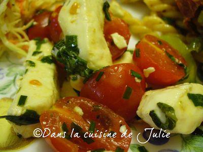 DANS LA CUISINE DE JULIE: Salade de tomates cerise et de fromage en grains