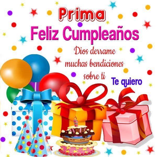 25+ best ideas about Tarjeta feliz cumpleaños prima on Pinterest Felicitaciones para una prima