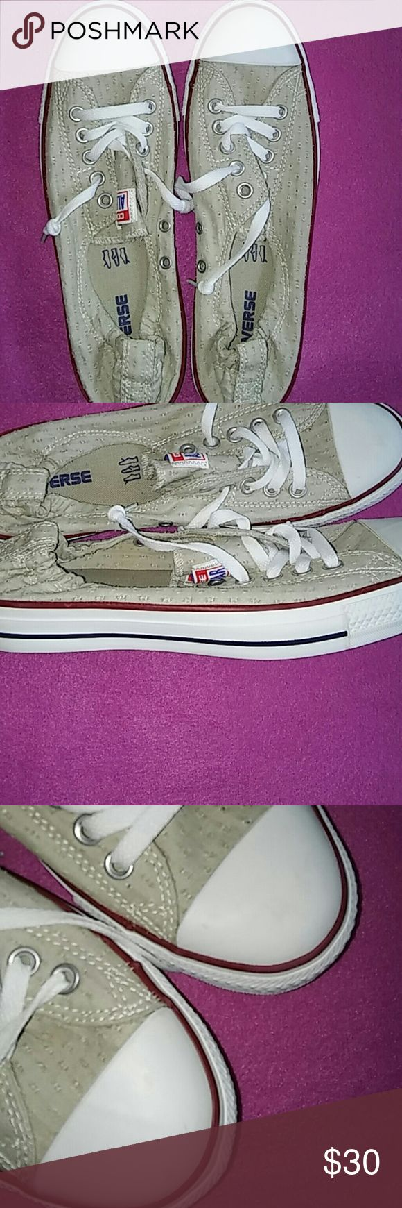 Ladies Converse sneaker size 11 New tan Converse size 11 Converse Shoes Sneakers