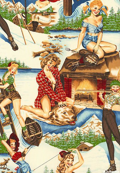 Camping Pin Up By Alexander Henry I Heart Camping