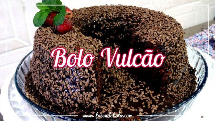 BOLO VULCÃO DE CHOCOLATE ( Brigadeiro ) - Passo a Passo Massa, e Cobertura de Chocolate. RECEITA: http://goo.gl/3P5Ocg Veja também BOLO BOMBOM com Creme Bran...
