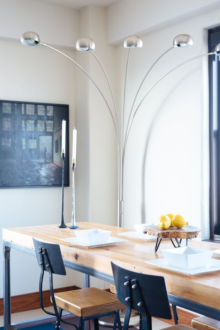 """""""It was designed to be versatile and styled in three different ways to allow the flexibility of a game day table with view of the TV, a temporary work desk and centrally positioned in the room for an elegant dinner party table."""""""