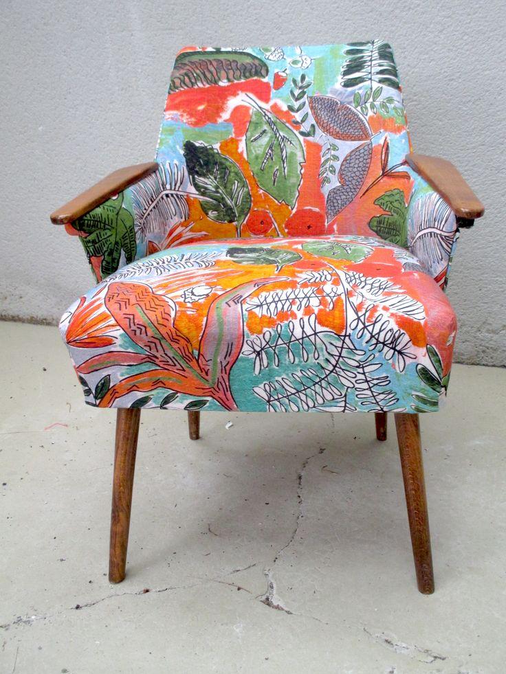 tissu jungle orange