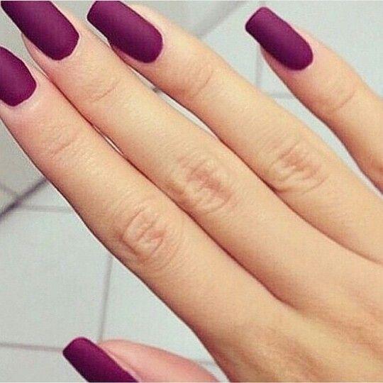 Matte maroon nails | Beauty  | Pinterest | Matte maroon ...