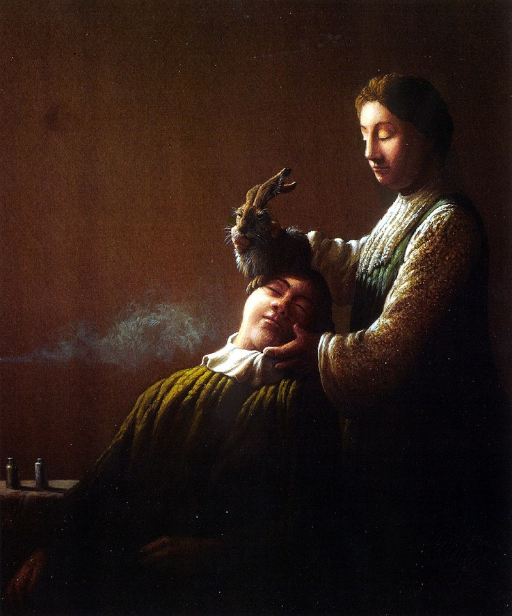 I love how sweet and surreal Michael Sowa's paintings are.