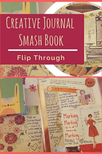 Flip through of my fully completed Creative Journal / Smash book - Kerrymay._.Makes